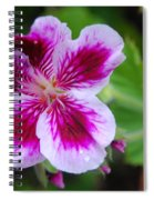 Purple And White Flowers Spiral Notebook