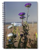 Purple And White Flowers In The Sun Spiral Notebook