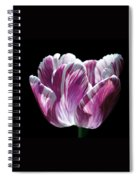 Purple And White Marbled Tulip Spiral Notebook