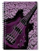 Purple Bass Spiral Notebook