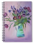 Purple Belle Bouquet  Tulips And Irises Spiral Notebook