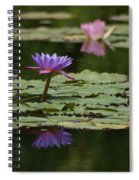Purple Blossoms Floating Spiral Notebook