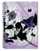 Purple Butterflies Spiral Notebook