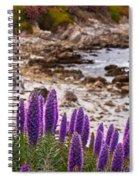 Purple California Coastline Spiral Notebook