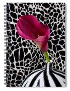 Purple Calla Lily Spiral Notebook