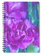 Purple Carnations Spiral Notebook