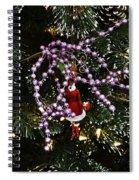 Purple Christmas Spiral Notebook