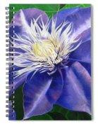 Purple Clematis Spiral Notebook
