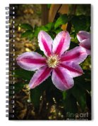 Purple Clematis Spiral Notebook