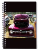 Purple Color Pickup Truck Spiral Notebook