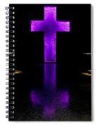 Purple Cross Spiral Notebook