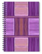 Purple Dreams Squares Spiral Notebook