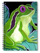 Purple Eyed Frog Spiral Notebook