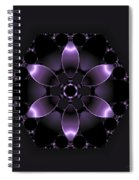 Purple Fantasy Flower Spiral Notebook