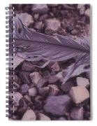 Purple Feather Spiral Notebook