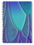 Purple Feathers Spiral Notebook