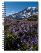 Purple Fields Forever And Ever Spiral Notebook