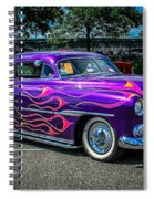 Purple Flame Spiral Notebook