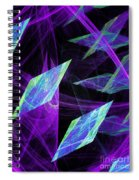 Purple Floating Diamonds Spiral Notebook