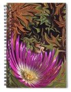 Purple Flower Abstract Spiral Notebook