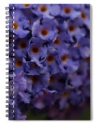 Purple Flowers 2 Spiral Notebook