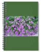 Purple Flowers Spiral Notebook
