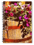 Purple Flowers In Rusty Bucket Spiral Notebook