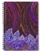 Purple Forest Moon Spiral Notebook