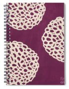 Purple Garden Bloom Spiral Notebook