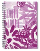 Purple Garden - Contemporary Abstract Watercolor Painting Spiral Notebook