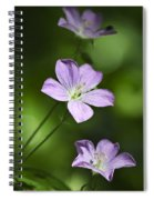 Purple Geranium Flowers Spiral Notebook
