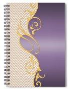 Purple Gold Chevron Spiral Notebook