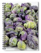 Purple Green Brussels Sprouts Spiral Notebook