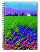 Purple Hills Spiral Notebook