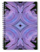 Purple Hydrangea Flower Abstract 2 Spiral Notebook