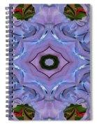 Purple Hydrangea Flower Abstract Spiral Notebook