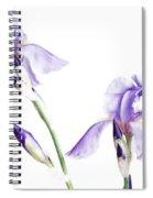 Purple Iris Glow Spiral Notebook