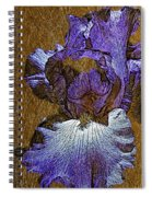 Purple Iris Gold Leaf Spiral Notebook