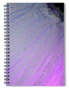 Purple Iris Ice Eye Spiral Notebook