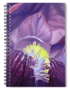 Georgia O'keeffe Style-purple Iris Spiral Notebook