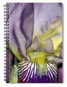 Purple Iris - Macro Spiral Notebook