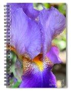Purple Iris Macro Spiral Notebook