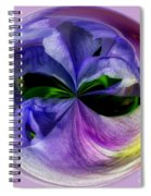 Purple Iris Orb Spiral Notebook