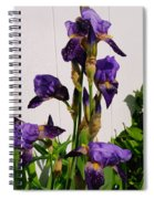 Purple Iris Stalk Spiral Notebook