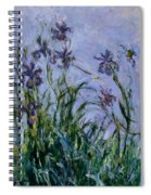 Purple Irises Spiral Notebook