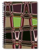 Purple Leaves Abstract Spiral Notebook