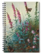 Purple Loosestrife And Watermind Spiral Notebook