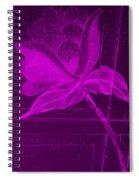 Purple Negative Wood Flower Spiral Notebook