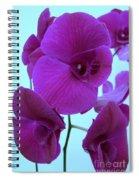 Purple Orchids 3 Spiral Notebook