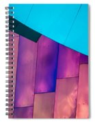 Purple Panels Spiral Notebook